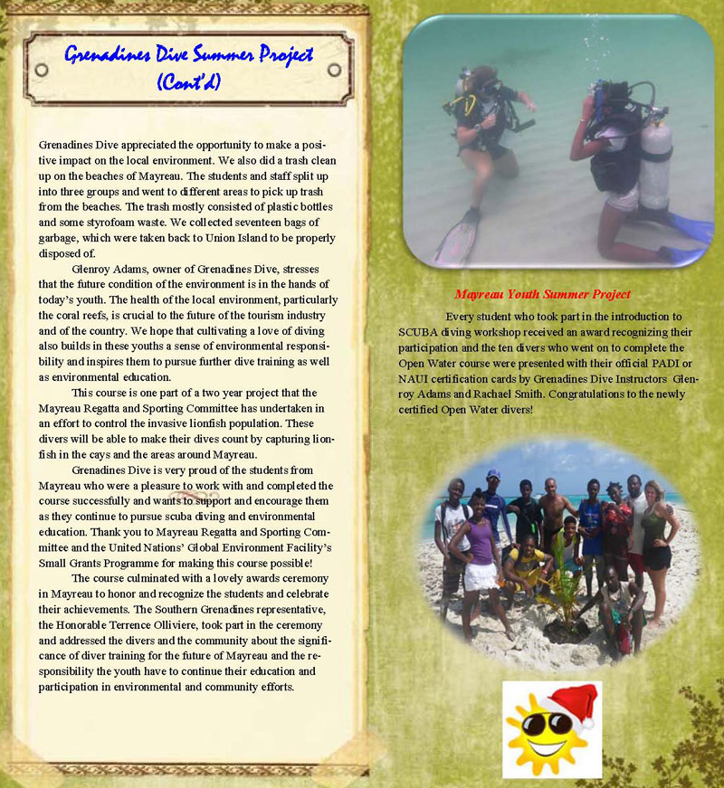 Scuba Diving with Glenroy Adams\' Granadines Dive at Union Island